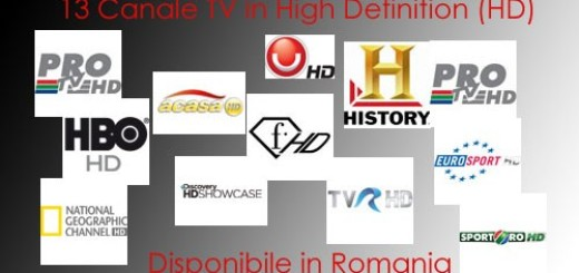 Canale HD disponibile in Romania